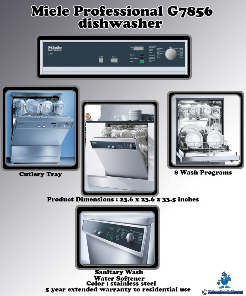 Miele Professional G7856 dishwasher - Infographic
