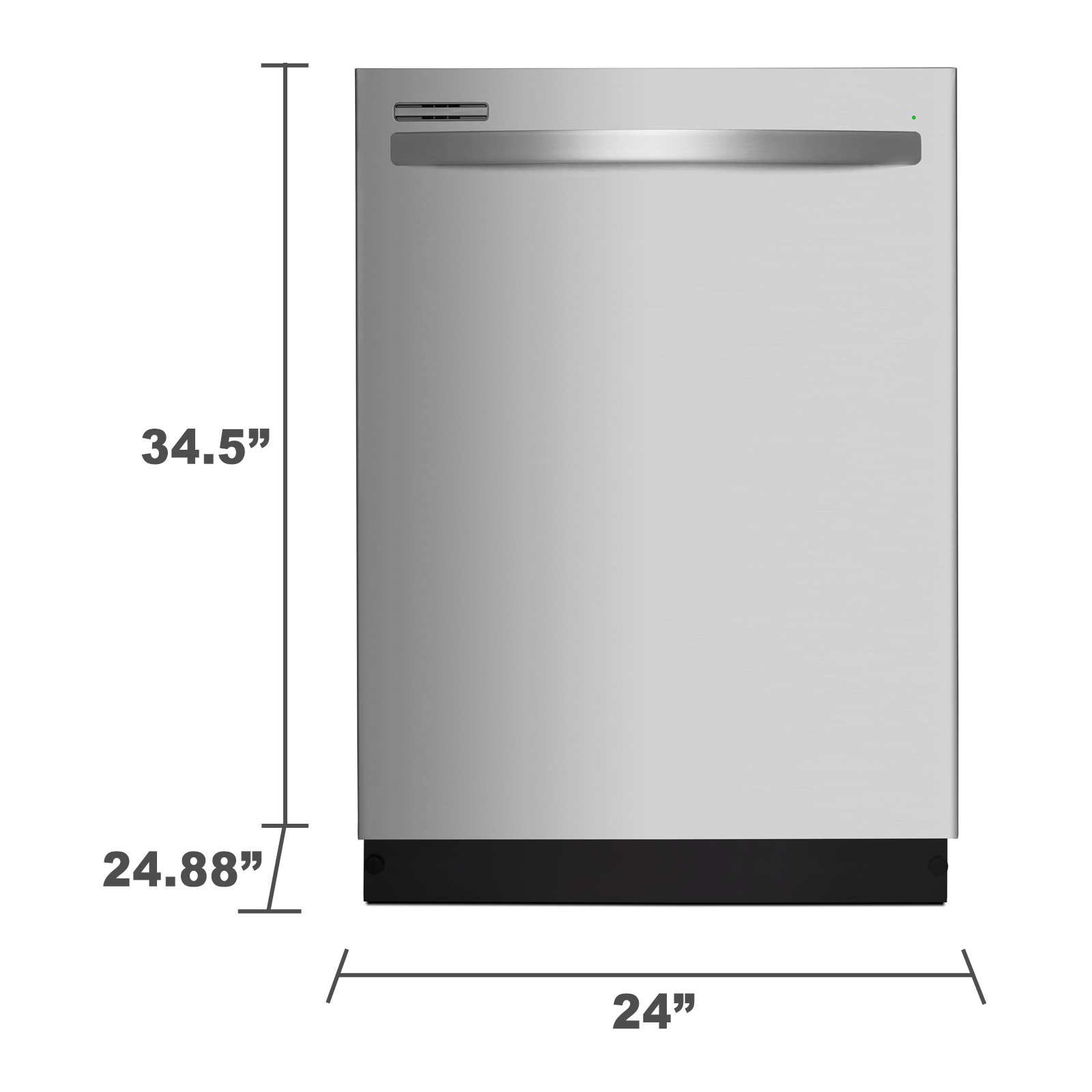 dishwasher dimensions space required
