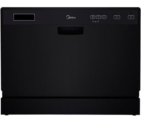 Midea 6-place Setting Countertop Dishwasher in Black