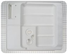 Inner door panel dishwasher