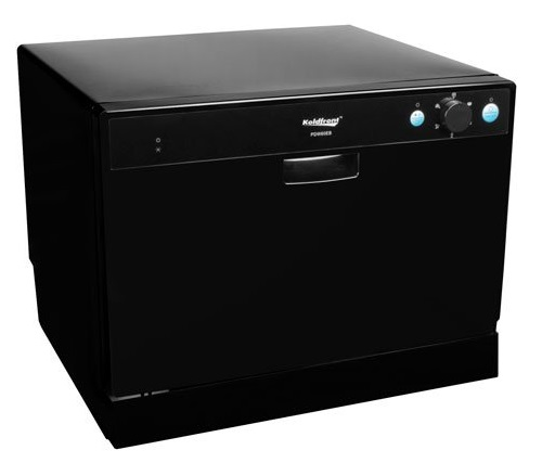 Koldfront 6 Place Setting Portable Countertop Dishwasher – Black