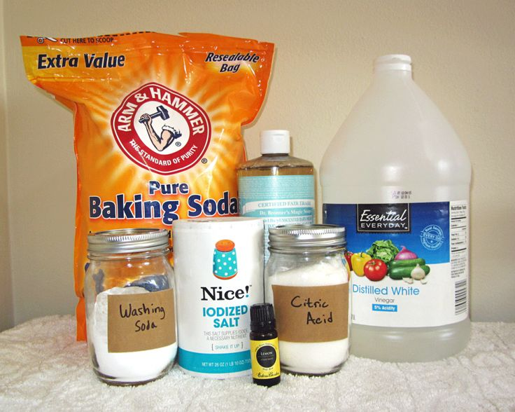 Borax-free detergent recipes