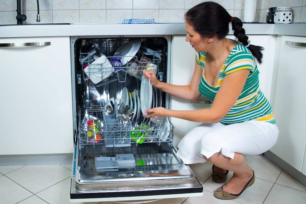 a dishwasher saves time