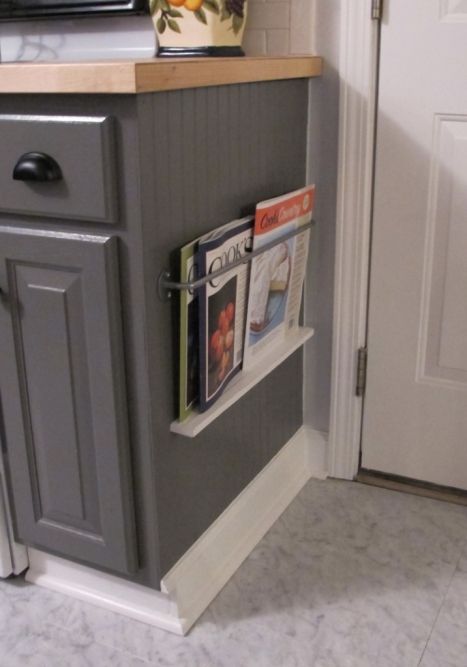 magazine holder in kitchen