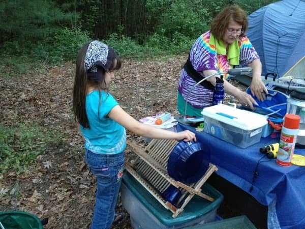 best camping dish wash station