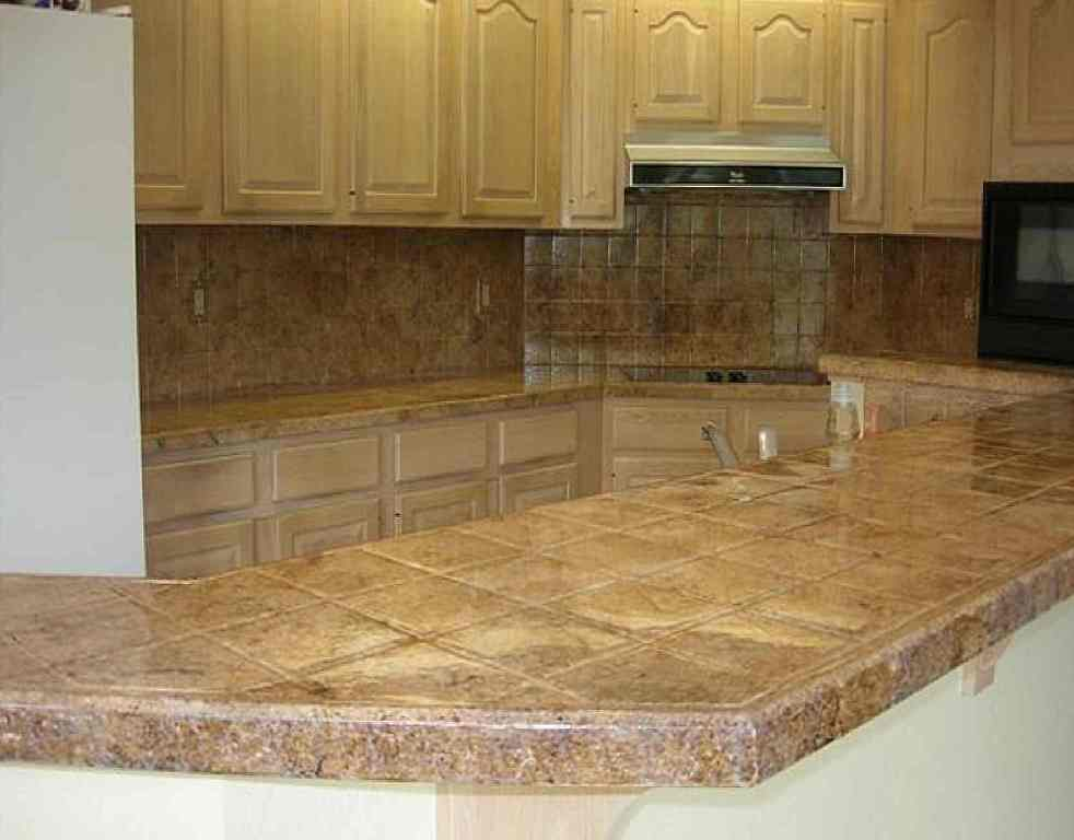kitchen counter tile ideas best materials for kitchen countertops 19373